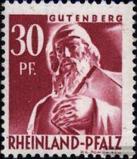 Franz. zona-Renania Pfalz 9 usado 1948 Sello de correos