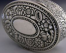 BEAUTIFUL 800 SOLID SILVER SNUFF BOX c1910 GERMAN ANTIQUE