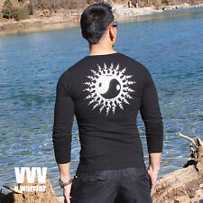 VVV V WARRIOR US Size S / M  #G1131 TAI CHI MUSCLE TIGHT FIT SPORTS TEE
