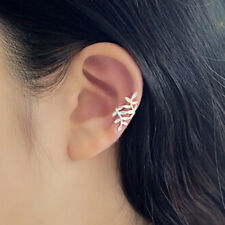 1x 925 Silver Plated Lovely Clip on Cuff Wrap Climber Crawler Earring