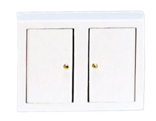 Dolls House White Kitchen Wall Unit Miniature 1:12 Scale Wooden Furniture