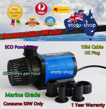 Jebao 6500L/H Wet/Dry Slient Eco Pond Pump - 50W Only Energy Saving Quite