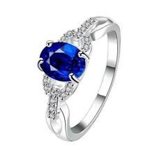 Women Elegant Crystal Rhinestone Ring Fashion Wedding Engagement Jewelry Lin