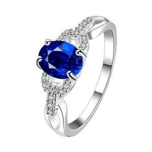 1pc Anniversary Rhinestones Rings Gifts Fashion Dainty Wedding Jewelry Zircon HD