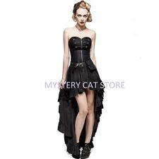 New PUNK RAVE Rock Gothic Victorian Black Cotton Dress Q-311 FAST POSTAGE