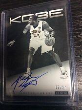 2012-13 Panini Anthology Kobe Bryant #3 Sign Autograph On card AUTO 2/24 Lakers