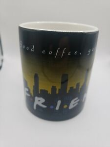 Friends tv show coffee mug 1995 Warner Bros Good Coffee Good Friends City Logo