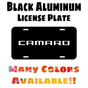 Fits Camaro Black Aluminum License Plate (Different Colors Available