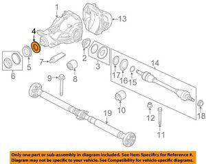 BMW OEM 00-13 X5 Rear Differential-Pinion Seal 31507609535