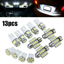 13PCS Car White LED Light Interior Package T10 Festoon Map Dome License Plate