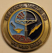 23rd Special Tactics Squadron Pararescue PJ Air Force Challenge Coin