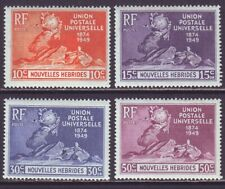 New Hebrides French 1949 SC 79-82 MH Set UPU
