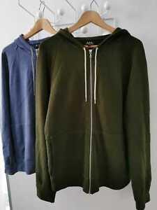 A.P.C. Men's Cotton Zip Hoodies Large (Pair)