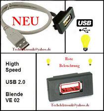 USB Einbaubuchse BELEUCHTUNG 0,5M passend für VW Golf GTI GT R Passat Bora Jetta