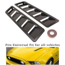 Pair Universal Car Bonnet Hood Vent Louver Cooling Panel Trim Black New
