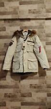 Alpha Industries Winter Jacket Parka Mountain Ranger Winterjacke Beige Mens