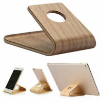 Universal Wooden Stand Desktop Holder Bracket for iPad iPhone Samsung Tablet PC