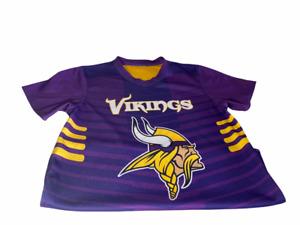 Minnesota Vikings Youth Reversible Flag Football Jersey Size L