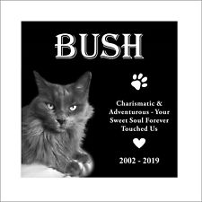 Cat Tombstone, Pet Headstone Laser Engraved on the Grave Marker, stone,