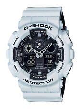New G-Shock GA100L-7A Men's Analog Digital X Large Black / White G Shock Watch