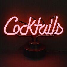 Cocktails Neon sign sculpture table lamp light Tiki Bar Martini Hand blown glass