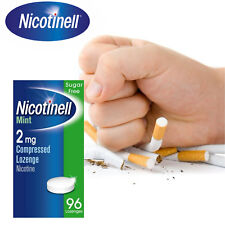 Nicotinell Nicotine Lozenges Stop Quit Smoking Aid 2 mg Sugar Free Mint 96-Piece