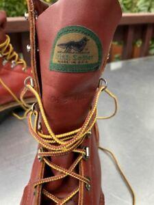 Vintage Irish Setter Leather Work Sport Boots, Mens10.5 / B