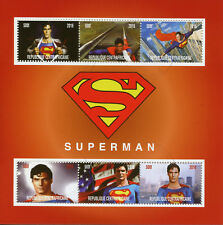 Central African Rep 2016 CTO Superman Christopher Reeve 6v MS Superheroes Stamps