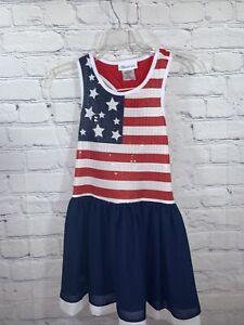 BONNIE JEAN 10 AMERICAN FLAG 4TH OF JULY USA GIRLS Dress