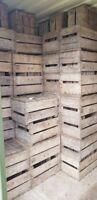 Vintage Wooden Pear /Fruit Crates - Rustic Old Bushel Box - Shabby Chic Storage
