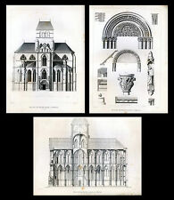 ARCHITECTURE..Church of Our Lady of Trier (Germany)...3 Antique engravings..1858
