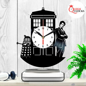Doctor Who Tardis Vinyl Record Wall Clock Home Art Decor Birthday Gifts