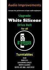 Rega Planar Upgrade Special Silicone Rundriemen P1 bis P9 & clones