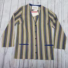 Jantzen Vintage Rare Smilewear Longsleeve Blouse Size 36 Swimwear New With Tags.