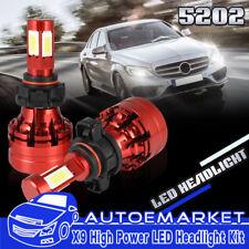 4 Sides H16 5202 9009 LED 1050W 157500LM Headlight Fog Light LED Kit Bulbs White
