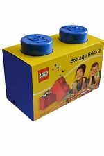 The Lego Storage Brick Toy Box - 2 Knob - Blue