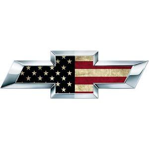 2 Black/Red  American Flag US Universal Chevy Silverado Vinyl Emblem Overlay