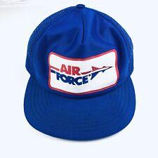 Air Force Vintage 80s Men's SnapBack Trucker Hat Adjustable Blue Top Gun