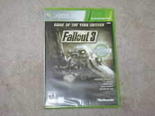 FALLOUT 3 GAME OF THE YEAR EDITION...XBOX 360...***SEALED***BRAND NEW***!!!!!
