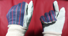 CUTE Womens Gardening Work Gloves With Sky Blue Suede Leather Palms Garden