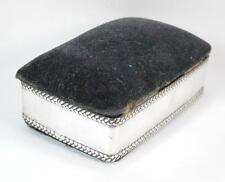 Edwardian Period Solid Silver Ladies Pin Cushion Ring and Jewellery Box