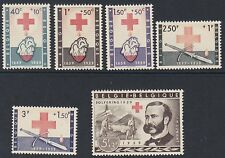 BELGIUM : 1959 Red Cross Commemoration  set SG 1667-73 MNH
