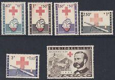 BELGIUM : 1959 Red Cross Commemoration  set SG 1667-73 MNH