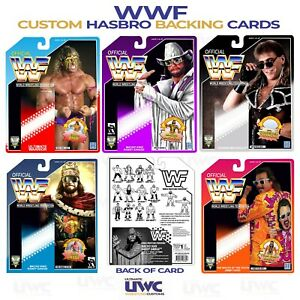 WWF Hasbro Wrestling Figure Backing Card Custom Made