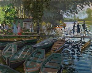 "CLAUDE MONET Art Poster or Canvas Print ""Bathers at La Grenouillere"""