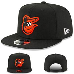 New Era Baltimore Loriots Casquette Snapback MLB Officiel Basic Noir Haut Crown