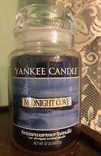 Yankee Candle Midnight Cove LARGE 22 OZ Jar Blue Retired RARE NEW
