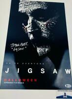 Tobin Bell signed JIGSAW SAW 11X17 metallic photo BAS COA H32926
