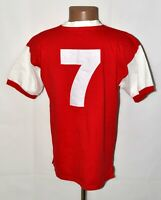 ARSENAL LONDON 1970`S HOME FOOTBALL SHIRT JERSEY SCORE DRAW #7 RETRO REPLICA