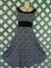 PERCEPTIONS JEWELED BLACK WHITE RUCHED DRESS 12P WEDDING PARTY CHURCH CAREER